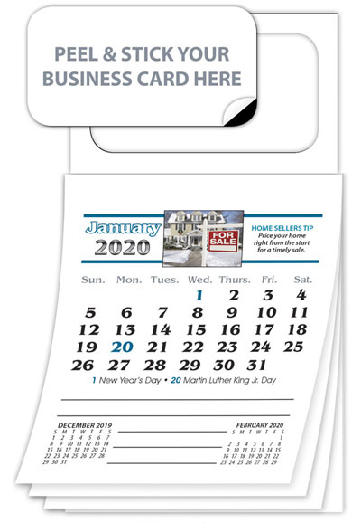 Real Estate Business Card Calendar